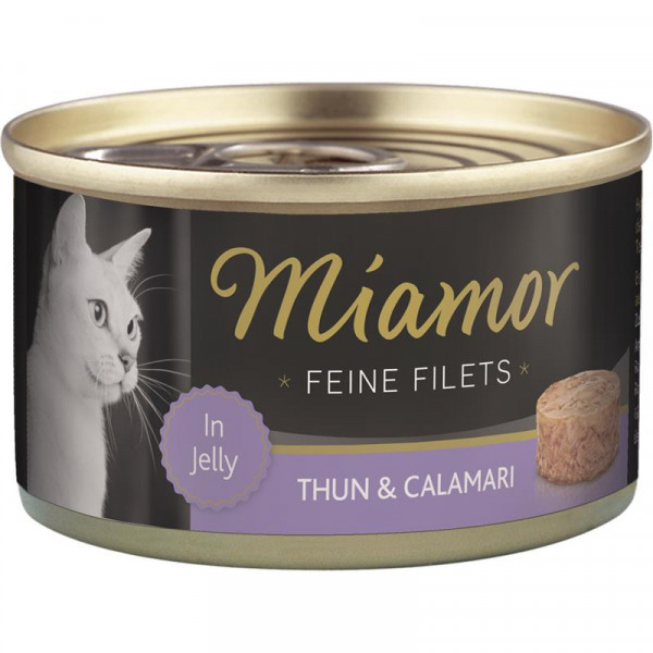 Miamor Dose Feine Filets Thunfisch & Calamaris 100g