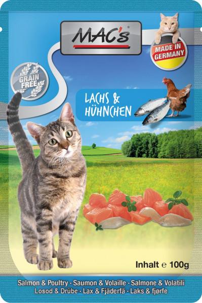 MACs Cat Pouch Pack Lachs & Preiselbeeren 100g