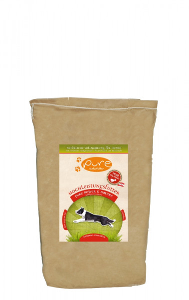 PURE Dog Power+Natur glufr 5kg