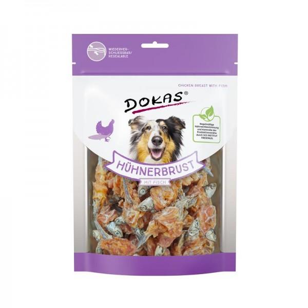 Dokas Hundesnack Hühnerbrust mit Fisch 220g