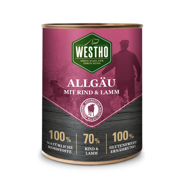 Westho Dog Dose Allgäu Rind & Lamm 800g