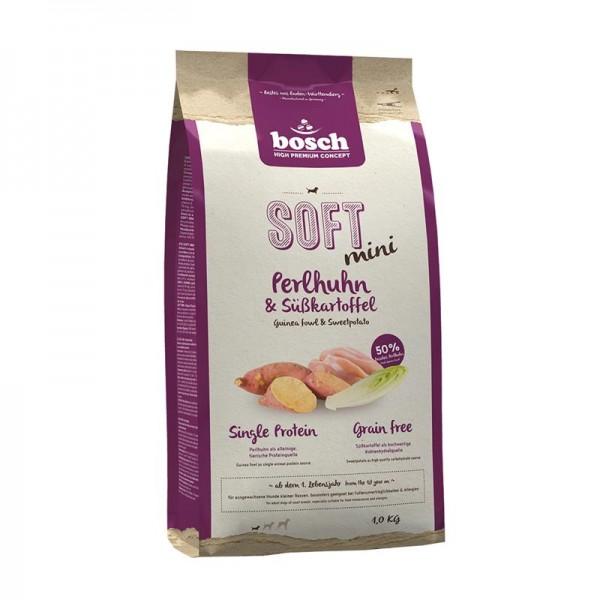 Bosch HPC Soft Mini Perlhuhn & Kartoffel 1kg | Bosch Hundefutter | Trockenfutter