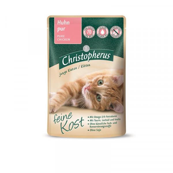 Christopherus Cat Portionsbeutel Kitten - Huhn pur 85 g