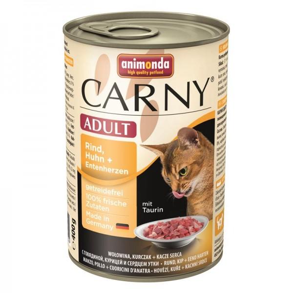 Animonda Carny Adult Rind & Huhn & Entenherzen 400g
