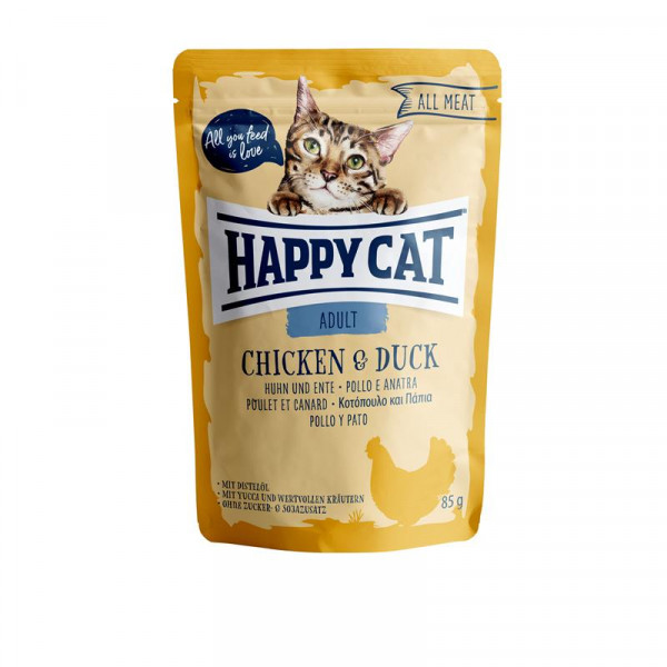 Happy Cat Pouches All Meat Adult Huhn & Ente 85g