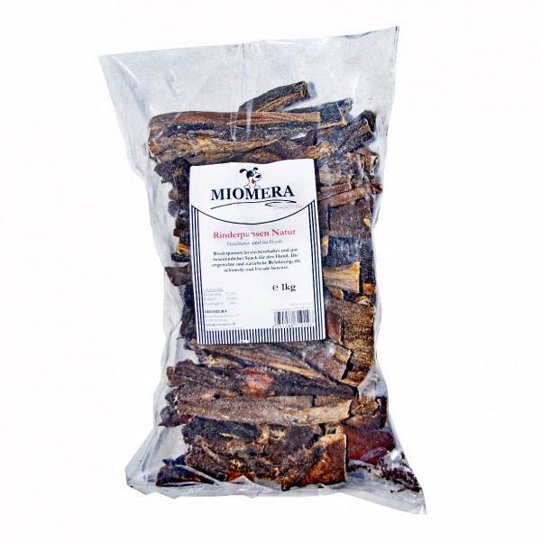 MIOMERA Dog Snack Rinderpansen Natur 1kg