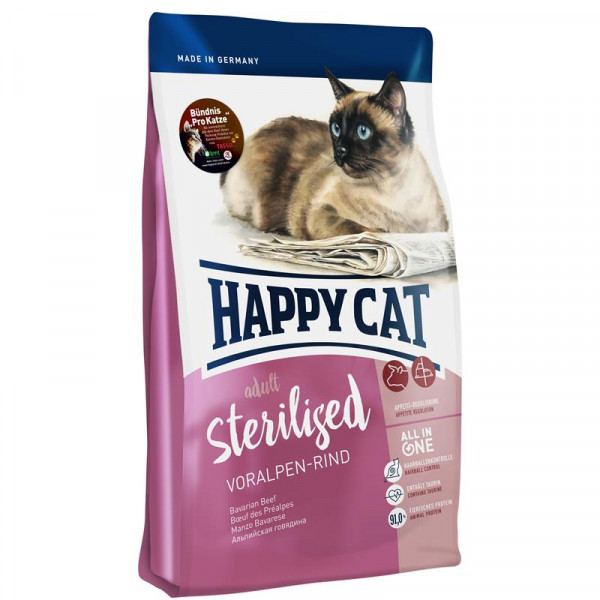 Happy Cat Supreme Sterilised Voralpen-Rind 300g