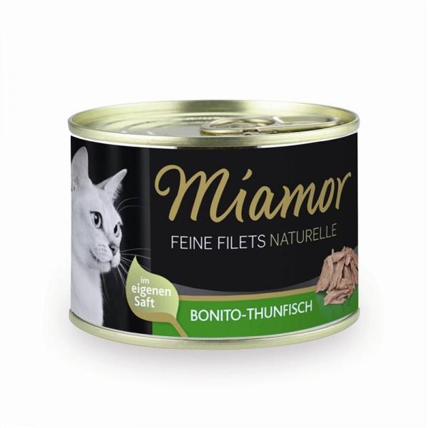 Miamor Dose Feine Filets Naturelle Bonito-Thunfisch 156g