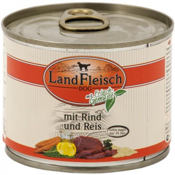 Landfleisch Dog Pur Rind & Reis extra mager 195g