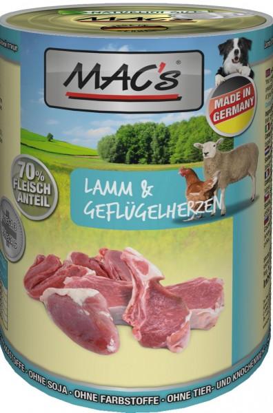 MACs Dog Lamm & Geflügelherzen 400g