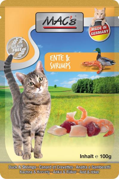 MACs Cat Pouch Pack Ente & Shrimps 100g