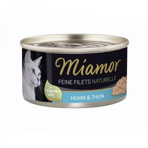 Miamor Feine Filets Naturelle Huhn & Thunfisch 80g