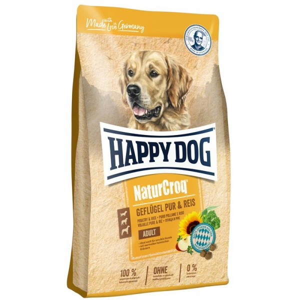 Happy Dog NaturCroq Geflügel pur & Reis 2x15kg