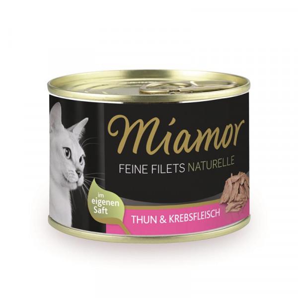 Miamor Dose Feine Filets Naturelle Thunfisch & Krebsfleisch 156g