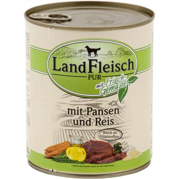 Landfleisch Dog Pur Pansen & Reis 800g