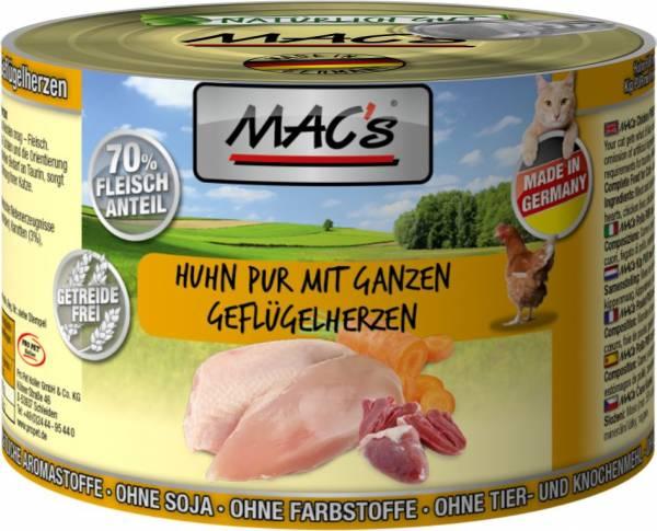 MACs Cat Huhn mit ganzen Geflügelherzen 200g