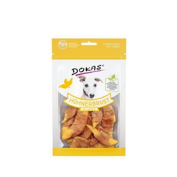Dokas Hundesnack Hühnerbrustfilet mit Mango 70g