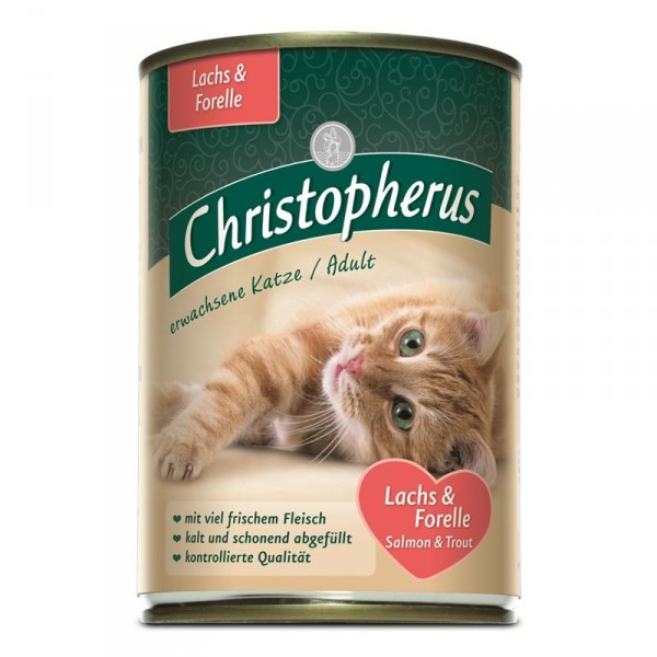 Christopherus Cat Dose Adult Lachs+ Forelle 400g