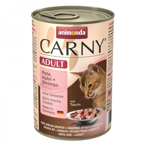 Animonda Cat Dose Carny Adult Pute & Huhn & Shrimps 400g