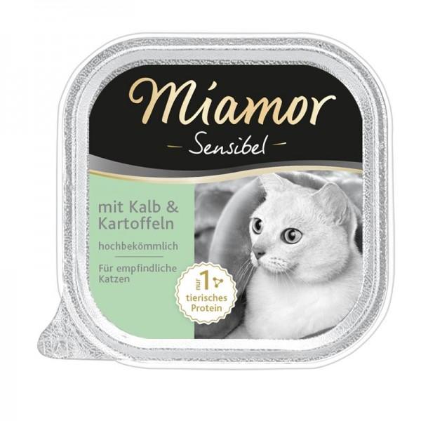 Miamor Schale Sensibel Kalb & Kartoffel 100g