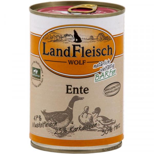 LandFleisch Wolf 100% Fleisch von der Ente 400g