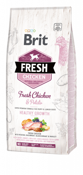 Brit Fresh Puppy Chicken Healthy Growth 12kg