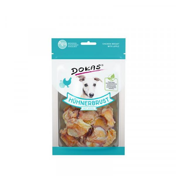 Dokas Hundesnack Hühnerbrustfilet mit Apfel 70g