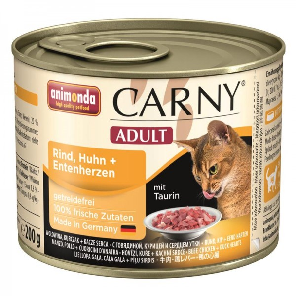 Animonda Carny Adult Rind & Huhn & Entenherzen 200g
