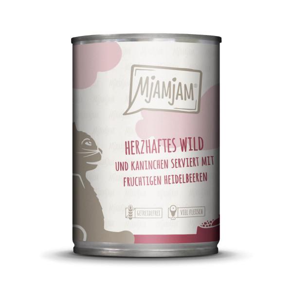 MjAMjAM - herzhaftes Wild & Kaninchen an fruchtigen Heidelbeeren 400 g