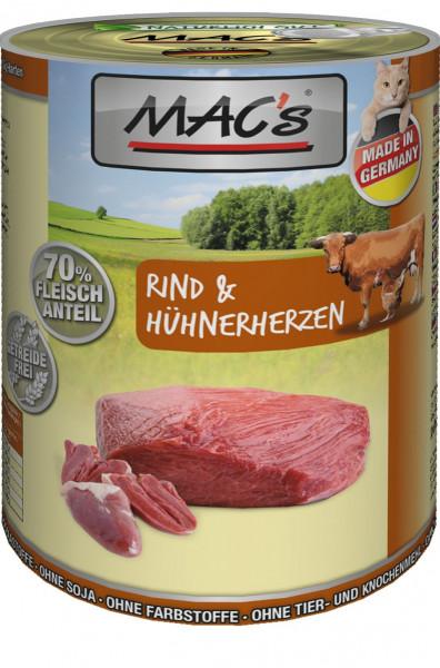 MACs Cat Rind & Hühnerherzen 400g