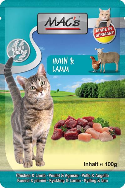 MACs Cat Pouch Pack Huhn&Lamm 100g