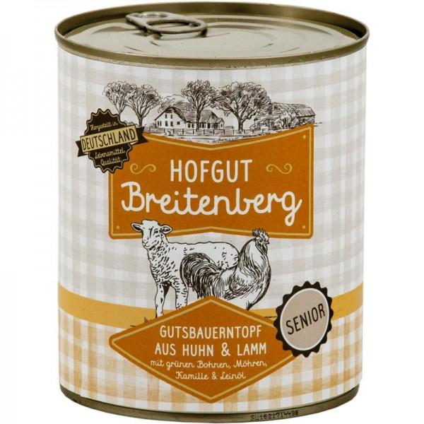 Hofgut Breitenberg Senior Gutsbauerntopf mit grünen Bohnen, Möhren, Kamille & Leinöl 800g