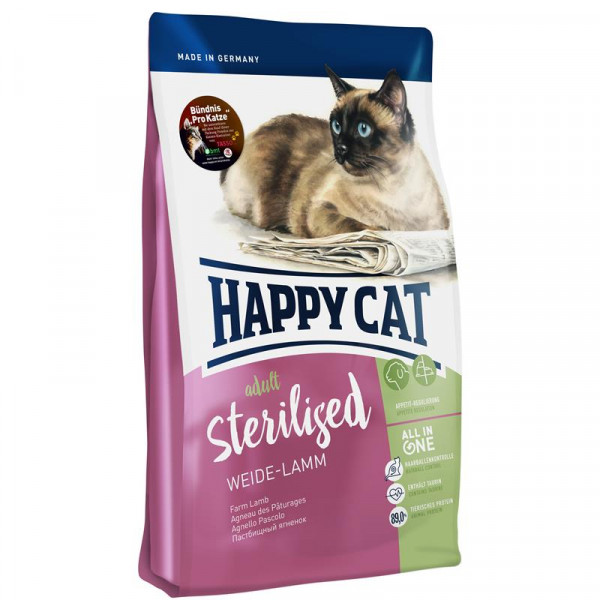 Happy Cat Supreme Sterilised Weide-Lamm 10kg