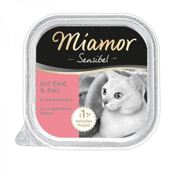 Miamor Schale Sensibel Rind & Reis 100g