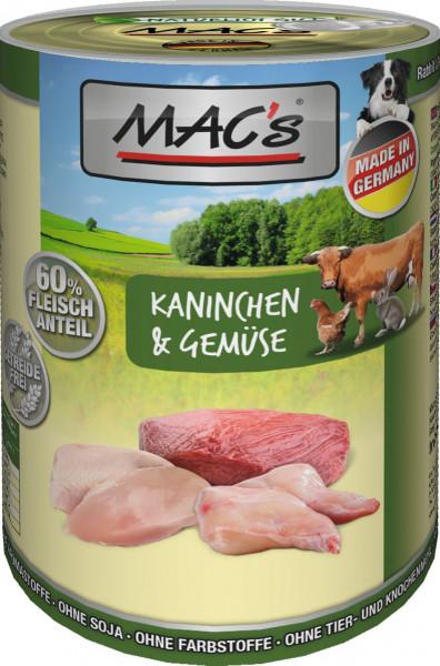 MACs Dog Kaninchen & Gemüse 400g