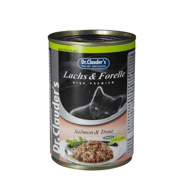 Dr. Clauders Cat Selected Meat Pearls Lachs und Forelle 400g