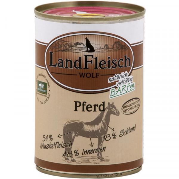 LandFleisch Wolf Sensibel 100% Fleisch vom Pferd 400g
