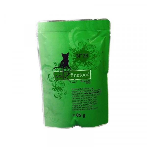 Catz finefood No. 23 Rind und Ente 85g