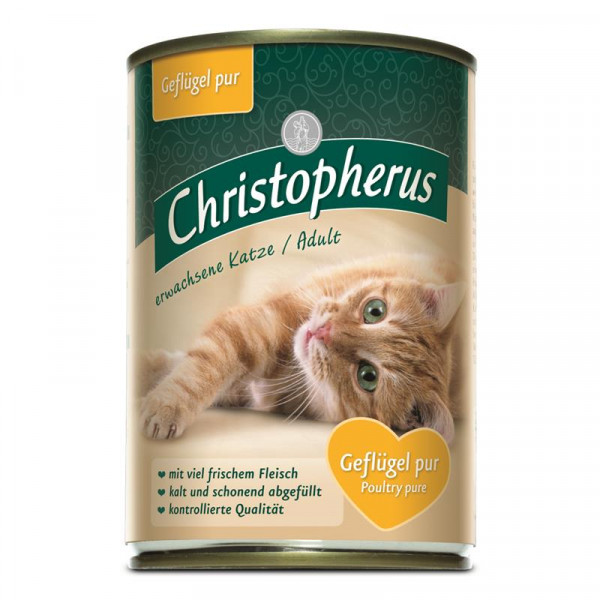Christopherus Cat Dose Adult Geflügel pur 400g