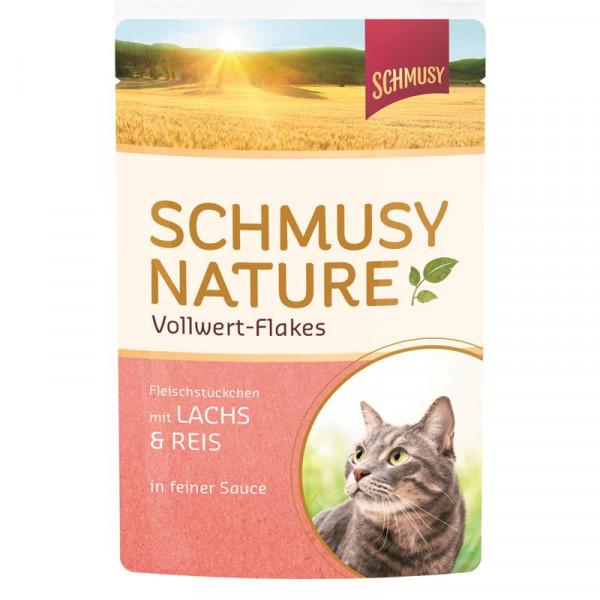 Schmusy Nature Vollwert-Flakes FB Lachs & Reis 100g