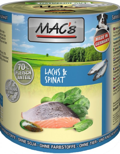 MACs Dog Lachs mit Pasta & Spinat 800g