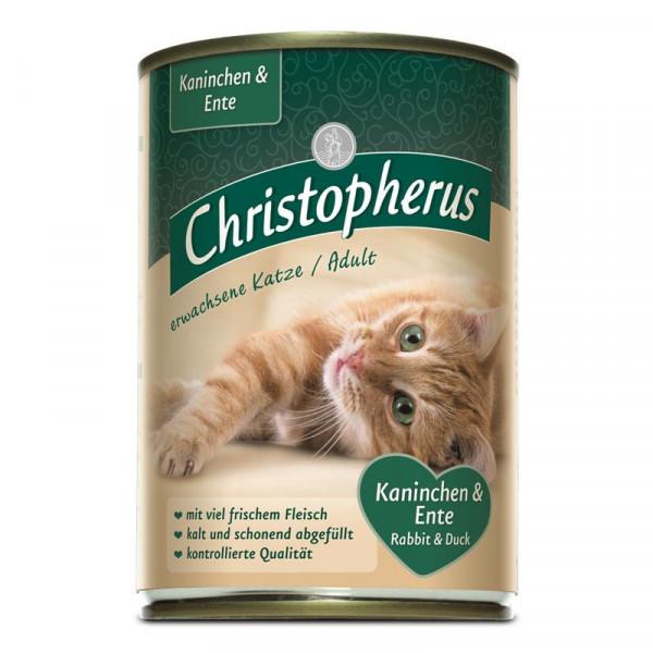Christopherus Cat Dose Adult Kaninchen & Ente 400g