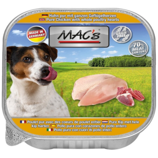 MACs Dog Huhn pur mit Gefl.herzen 150g
