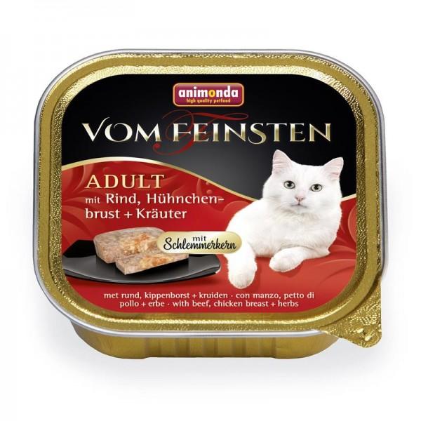 Animonda vom Feinsten mit Schlemmerkern mit Rind, Hühnchenbrust & Kräutern 100g