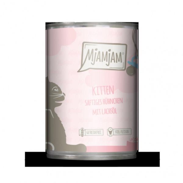MjAMjAM - Kitten saftiges Hühnchen mit Lachsöl 400 g