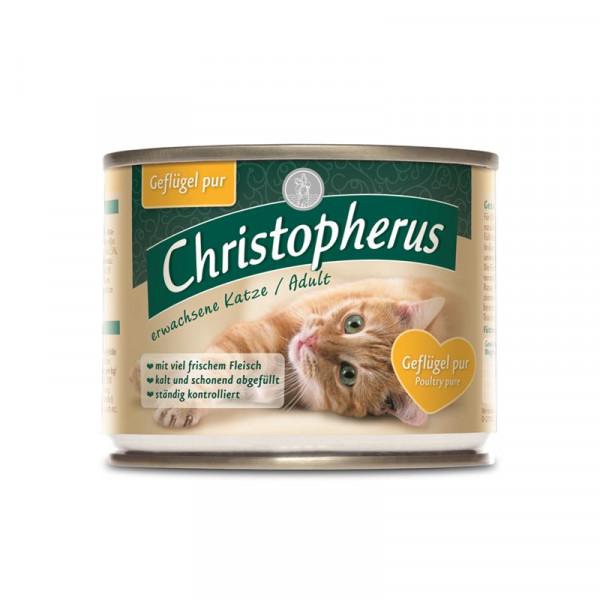 Christopherus Cat Dose Adult Geflügel pur 200g