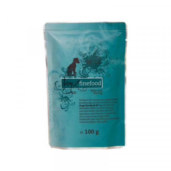 Dogz finefood Beutel No. 12 Wild & Hering 100g