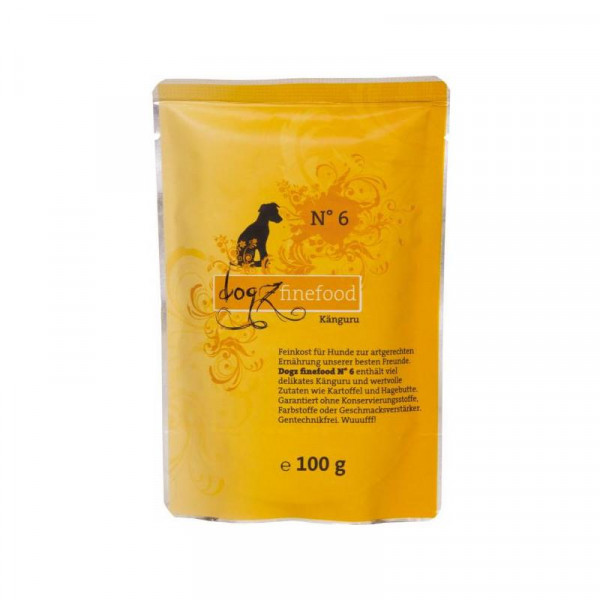 Dogz finefood Beutel No. 6 Känguru 100g