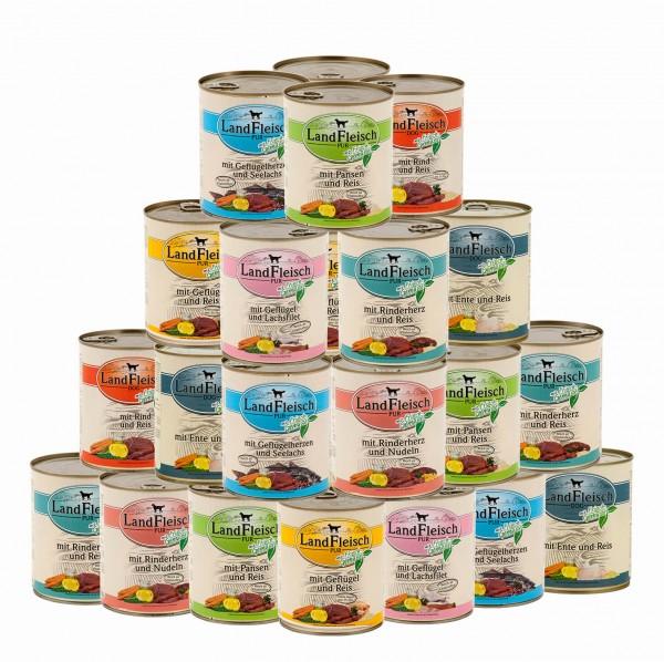 33 x 800 g Landfleisch Nassfutter Pur Dosen Mix | Überraschungspaket oder Sorten frei wählbar