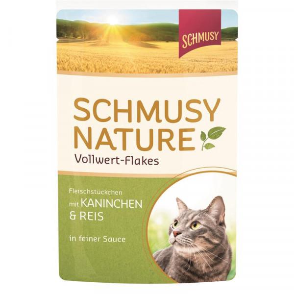 Schmusy Nature Vollwert-Flakes FB Kaninchen & Reis 100g